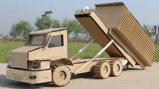 How To Make a Roll Off Truck From Cardboard at Home ! Amazing Truck DIY