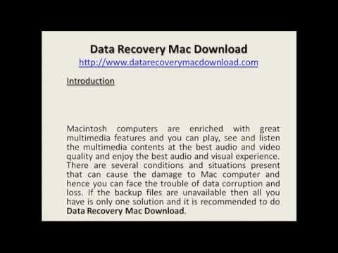 Data Recovery Mac Download VIDEO