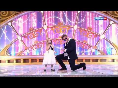 'КУЗЯ из Универа' Виталий Гогунский и дочка Новогодний парад звёзд 31 12 2014