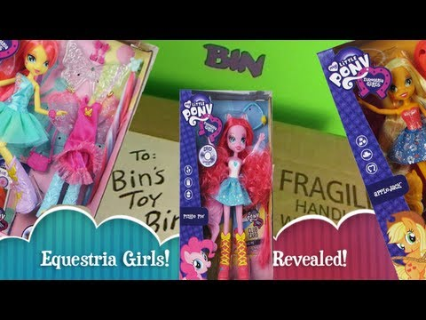 EQUESTRIA GIRLS My Little Pony DOLLS Revealed!! Sneak Peek Video! By Bin's Toy Bin