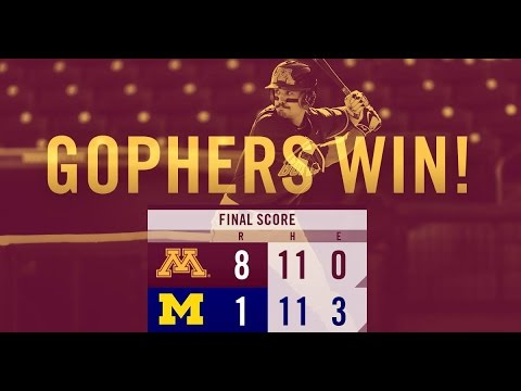 Gopher Baseball Takes Game One vs. #25 Michigan 8-1