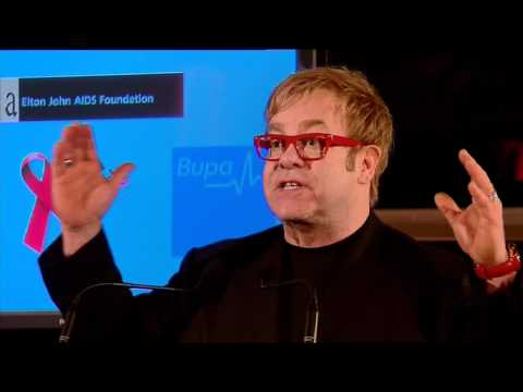 Elton John at World AIDS Day 2011 in Sydney