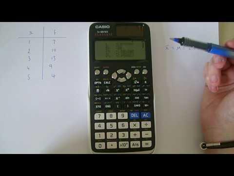 Casio fx-991EX Classwiz calculator. Finding mean. variance. standard deviation etc