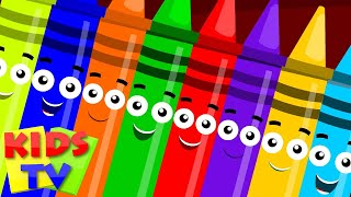 Crayons ten in the bed | crayons color song | learn crayons colors | nursery rhymes | Kids tv