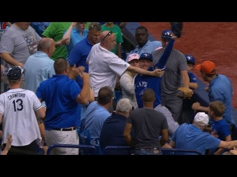 Donaldson flies into stands for amazing catch