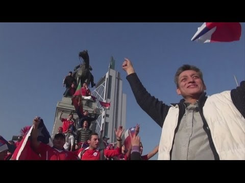 Chile fans upbeat despite Brazil defeat - Brazil World Cup 2014