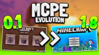 MCPE Evolution 0.1 to 1.8! Minecraft PE History (0.1 to 1.8) - Minecraft Pocket Edition Evolution
