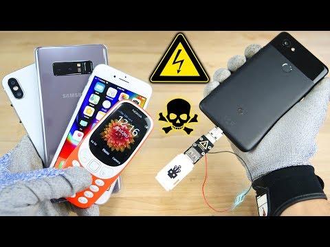 Download USB Killer vs Google Pixel 2, iPhone 8/X Fake & More! Instant Death? Mp4 baru