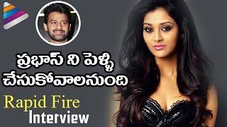 Heroine Pooja Jhaveri about PRABHAS | Dwaraka Movie Funny Rapid Fire Interview | Telugu Filmnagar