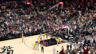 Last 15 seconds of Lakers @ Spurs.