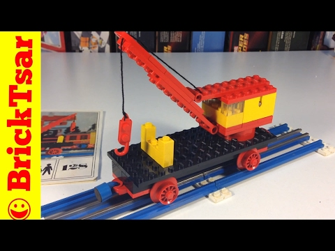 LEGO Train 128 Mobile Crane - Plate base version from 1971