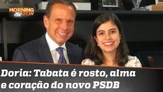 Fritada por Ciro Gomes, Tabata Amaral é bajulada pelo tucano João Doria