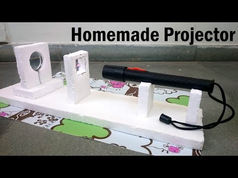 how to make a projector using magnifying glass