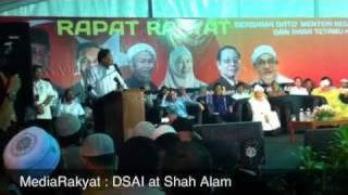 Newsflash: DSAI, Rapat Rakyat di Shah Alan (Resent)
