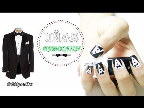 Nail Art | Diseño De uñas Esmoquin *tuxedo*  ♥ @Miyou_Dz ♥