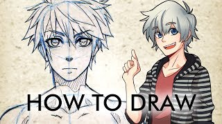 ?HOW TO DRAW? Male Manga Character