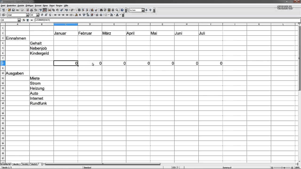 Monatliche ausgaben tabelle download : Oreimo op 2 download