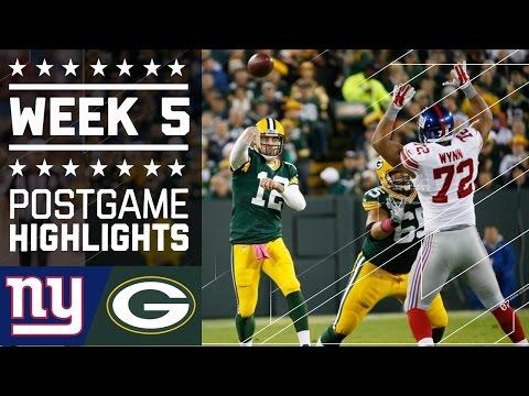 Giants Vs Packers Nfl Week 5 Game Highlights