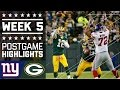 Giants vs. Packers (Week 5) | Game Highlights | NFL