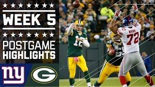 Giants vs. Packers (Week 5) | Game Highlights | NFL