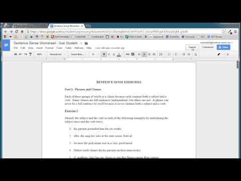 Turning in an Assignment in Google Classroom Student View October 2014