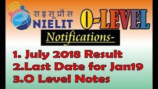 O level July 2018 result
