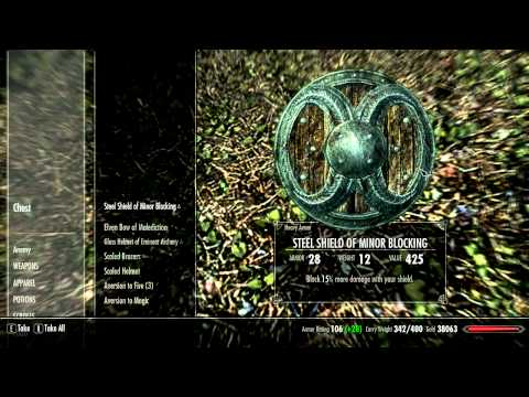 Skyrim Secret Glitch Chest  SOLITUDE (infinite gold)