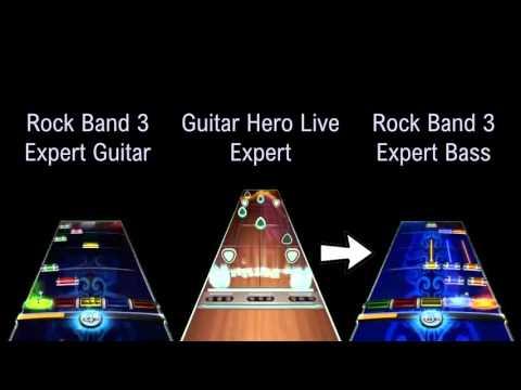 Primus - Jerry Was A Race Car Driver | Rock Band 3 v Guitar Hero Live - Expert Chart Comparison