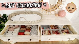 ORGANIZING THE BABY'S CLOSET & CLOTHES!