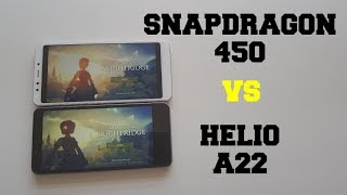 Snapdragon 450 vs Helio A22 Gaming comparison/Xiaomi Redmi 5 vs Redmi 6A GPU/SOC