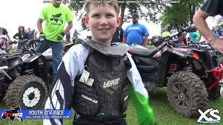 50cc Youth ATV Racing - IATVHSS 2017 Round 1 - Mount Pleasant Iowa