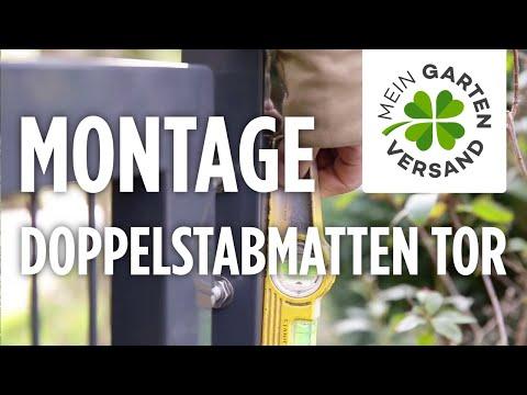 Mein Gartenversand: Doppelstabmatten Tor Aufbauen