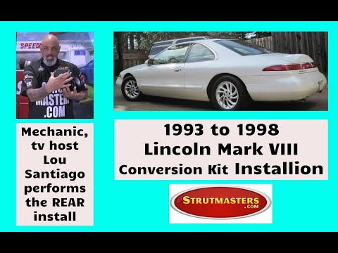 1994 Lincoln Mark VIII With A Strutmasters Air Suspension Conversion (Part 1 of 2 Install Video)