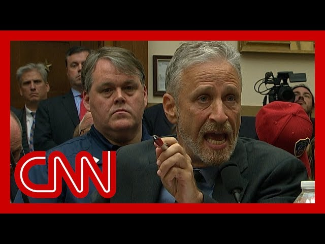 Jon Stewart chokes up, gives angry speech to Congress thumbnail