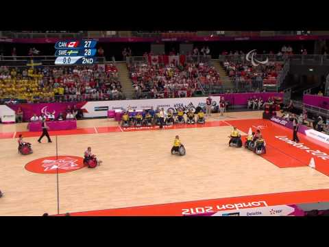Wheelchair Rugby   CAN versus SWE   Mixed   Pool Phase Group B   London 2012 Paralympic Games