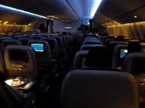 Qatar Airways Boeing 777-300ER, economy class, Bangkok to Doha, 2012