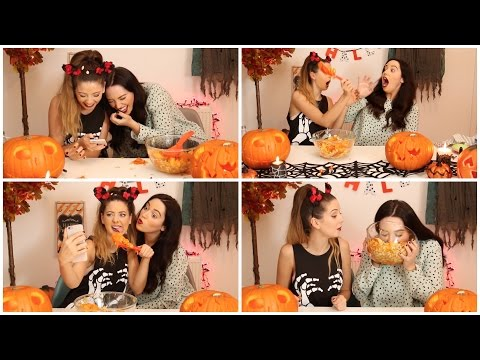 Pumpkin Carving Shenanigans with Gabby | Zoella