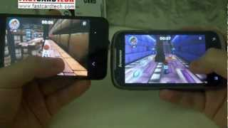 Meizu MX VS iphone 4s VS Lenovo A750 clear show you different