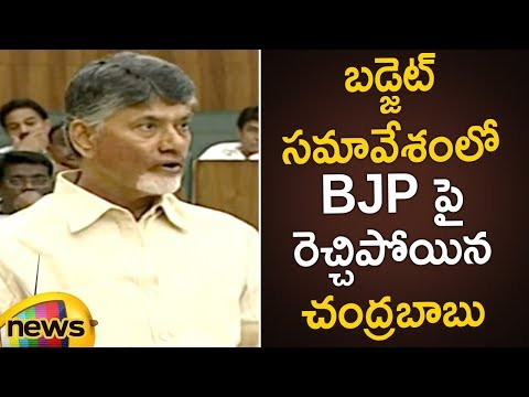 Chandrababu Naidu Fires On BJP In Assembly | AP Assembly Budget Session 2019 | Mango News
