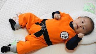 ドラゴンボールZ 孫悟空な赤ちゃん・ベビー服 赤ちゃんファッション - baby vlog Dragonball Z baby