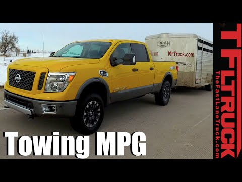 2016 Nissan Titan XD Diesel Real World Highway & Towing MPG Review