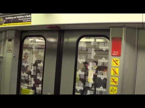 U-Bahn Berlin - Letzter Tag der unterbrochenen U6 (Mitfahrt F90)[HD 1080p]