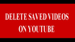 Remove Saved Videos On YouTube Android