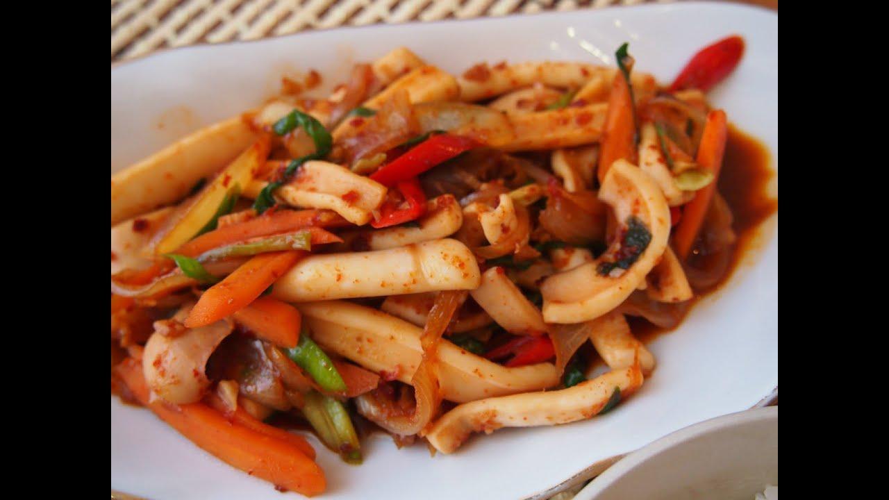 Кальмар по-корейски пошаговый рецепт