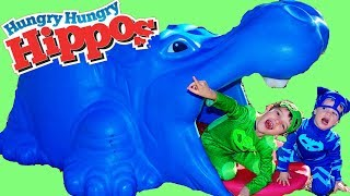 PJ MASKS Disney Assistant Hungry Hungry Hippos Game!