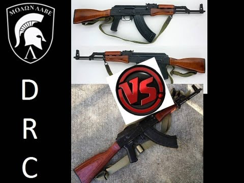 SAR-1 vs WASR 10/63. Two Romanian AK type Rifles.