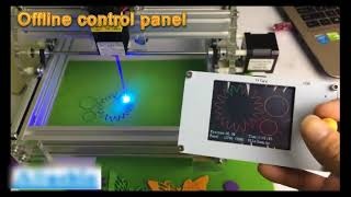 LY offline TFT LCD Panel for mini table laser & CNC machine