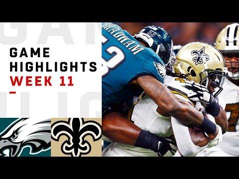 Eagles vs. Saints Week 11 Highlights   NFL 2018