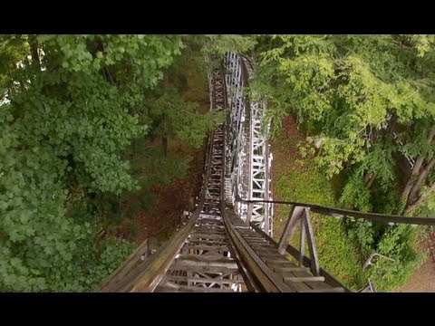 Blue Streak Roller Coaster POV Conneaut Lake Park Wooden Rollercoaster On-Ride