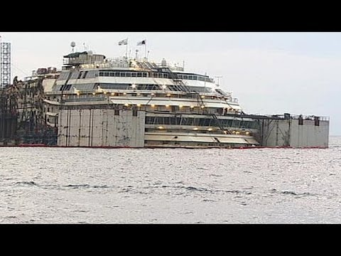 Operation begins to refloat Costa Concordia cruise liner